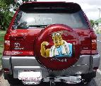 Airbrushed mural on Rav 4