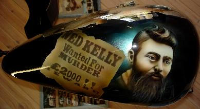 Ned Kelly murals on Harley,