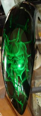 Airbrushed artwork on Chopper