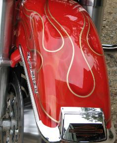 Airbrushed flames on brand new Road King