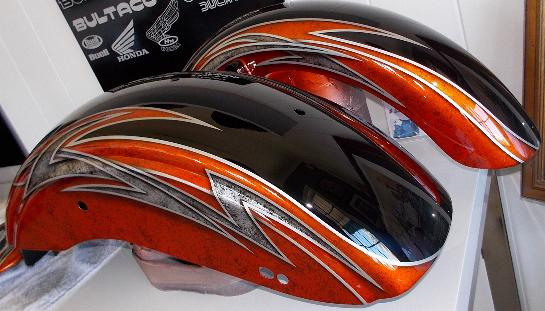 Airbrushed Grafix On Harley Davidson Using Candy Apple