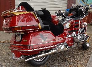 Honda Goldwing with murals
