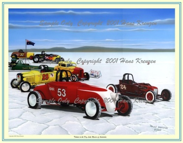 Picture of Small Print, Titled, Tribute to the Dry Lake Racers of Australia