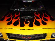 Flames on Holden Monaro