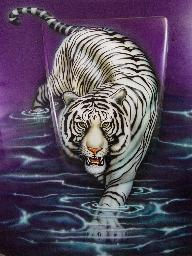 White Tiger Mural on Purple VR Commodore